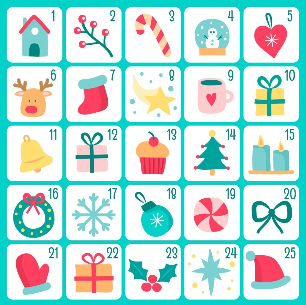 Stickdateien Adventkalender 2018