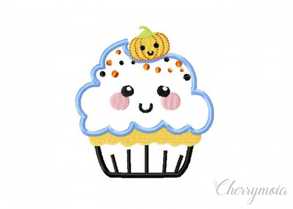 Cupcake with pumpkin