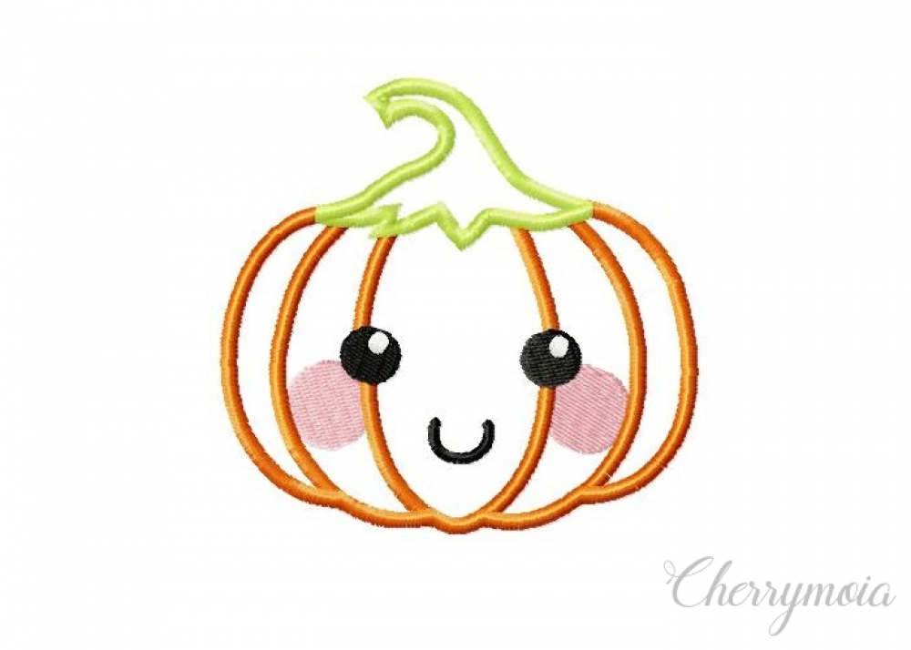 Laughing Pumpkin Applique