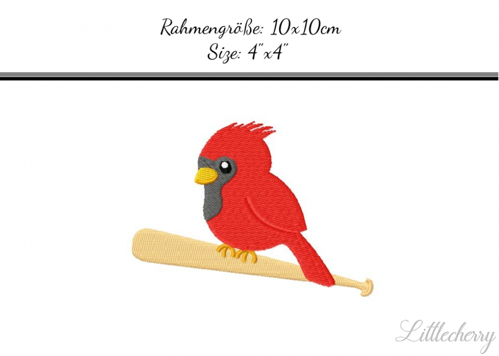 Cardinal on baseballbat 4'x4'