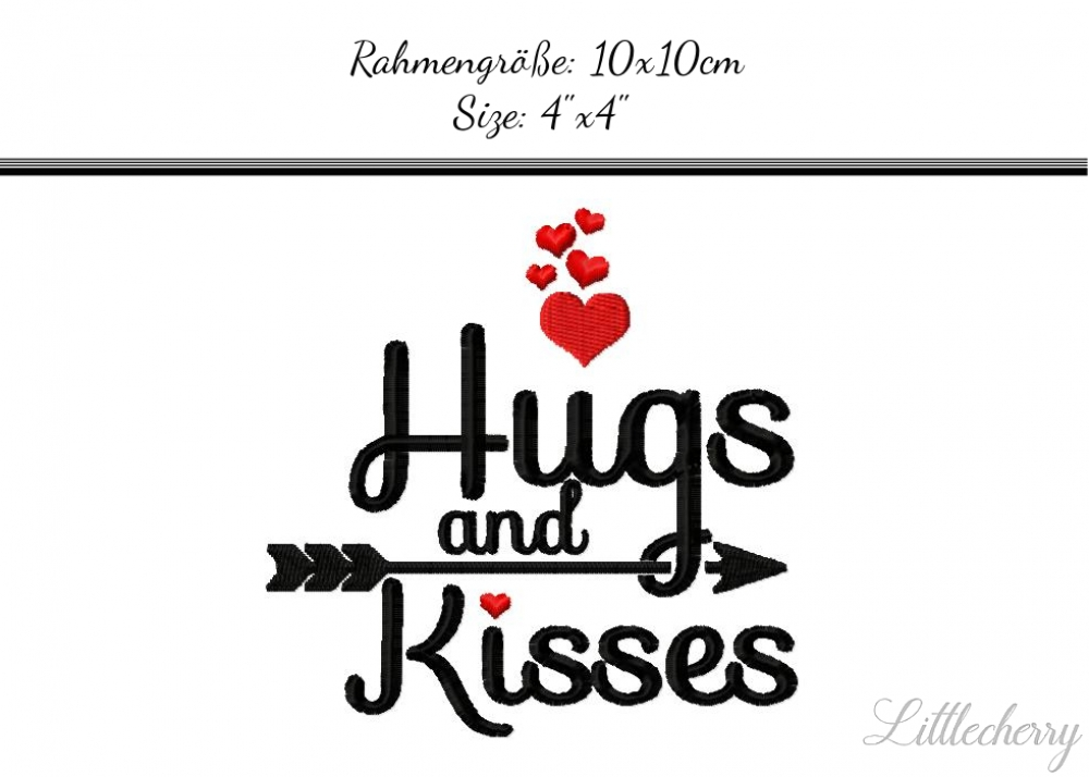Hugs and Kisses 4'x4'