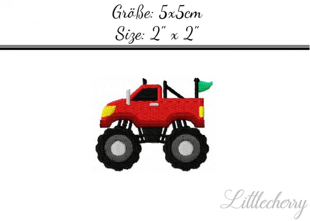 Monstertruck 2'x2'