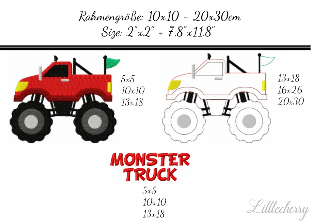 Monstertruck - Savingspack - 2'x2' - 7,8'x11,8'