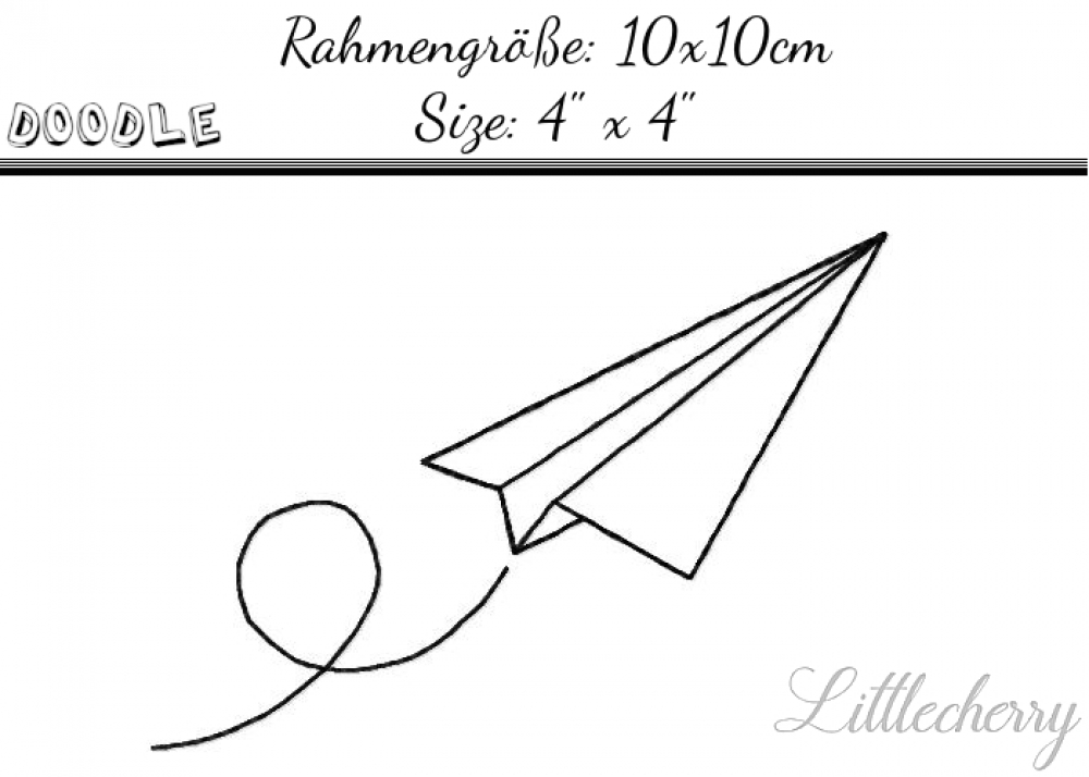 Paperplane 4'x4' Doodle