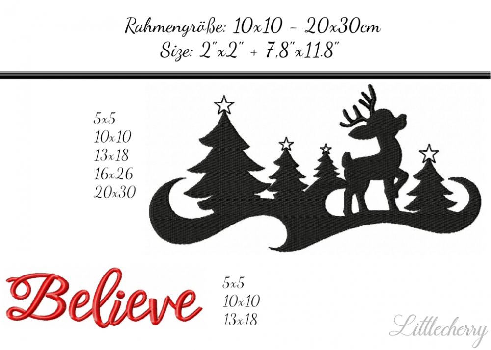 Savings Pack Reindeer Christmas Silhouette