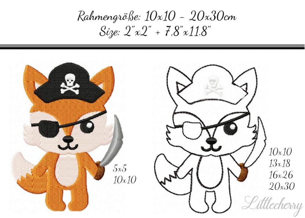 Savings Pack Pirate Fox