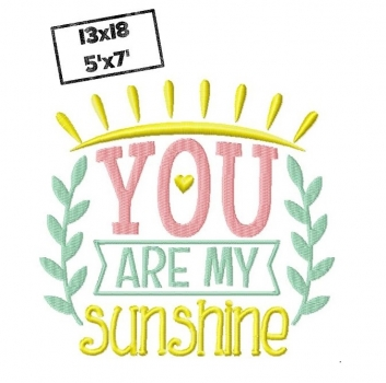 You are my sunshine 13x18